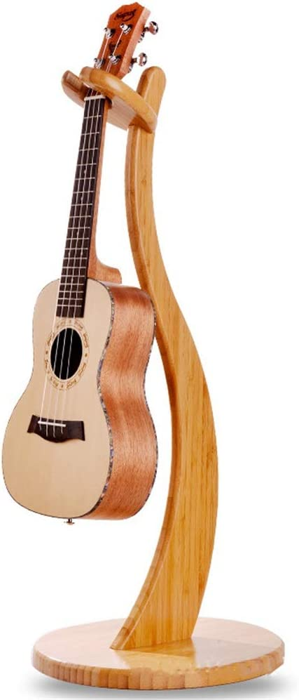 YBWEN Soporte de Guitarra Desmontable Completo de Madera Maciza de bambú Violín Ukulele Estante pequeño de Cuatro Cuerdas Guitarra posición creadora Gradas y Soportes (Color : Marrón)