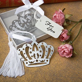 Crown Design Bookmarks Fairytale Wedding Favors 36