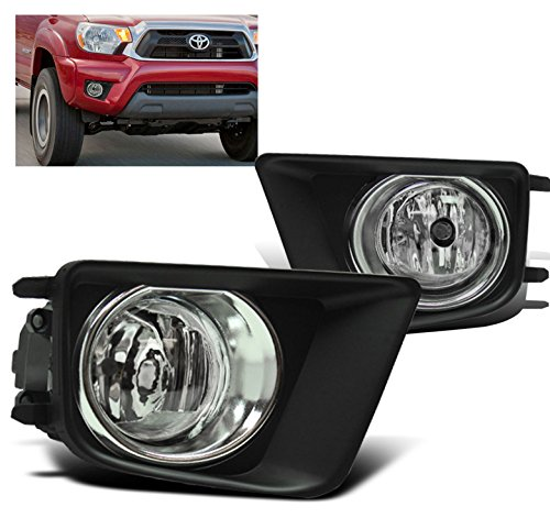 ZMAUTOPARTS 15 Toyota Tacoma Bumper Driving Fog Lights W/Chrome Trim Cover+Harness+Switch