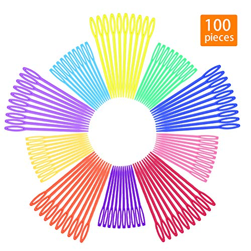100 Pcs Plastic Sewing Needles, iFergoo 50 Pcs 3.5