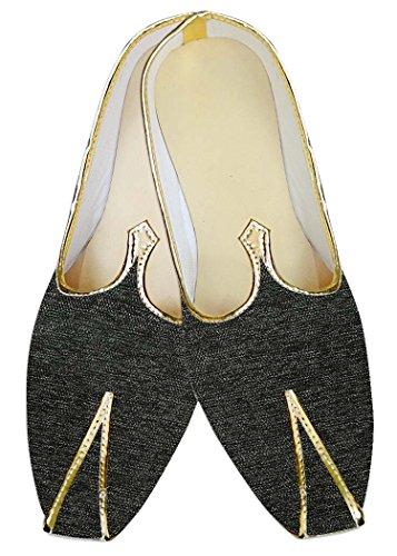 Gris Hombres Novio Zapatos Terciopelo Oscuro INMONARCH MJ012470 Yute CfWO45qnF