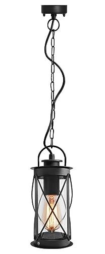 Outdoor hanging lantern light black metal clear cover with chain and outdoor hanging lantern light black metal clear cover with chain and fixings ip44 zlc13 aloadofball Images