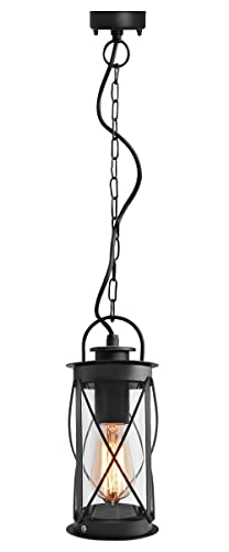 Outdoor hanging lantern light black metal clear cover with chain and outdoor hanging lantern light black metal clear cover with chain and fixings ip44 zlc13 mozeypictures Gallery