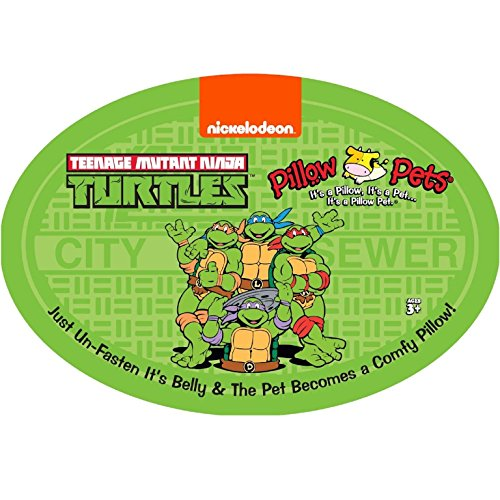 "51g3kkjvszL - Pillow Pets Nickelodeon Teenage Mutant Ninja Turtles Stuffed Animal Plush Toy 16"", Raphael"
