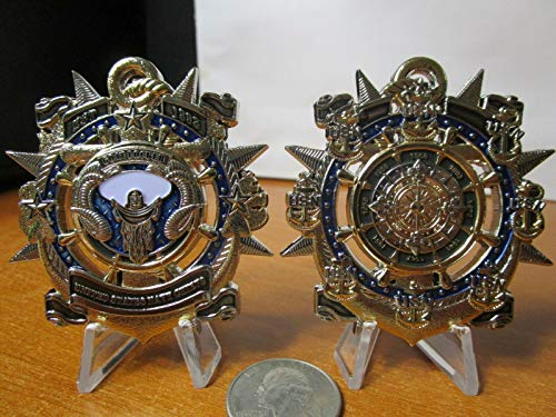 Navy Coin Chiefs Mess Goat Locker Ask The Chief CPO USN Compass Challenge Coin ()