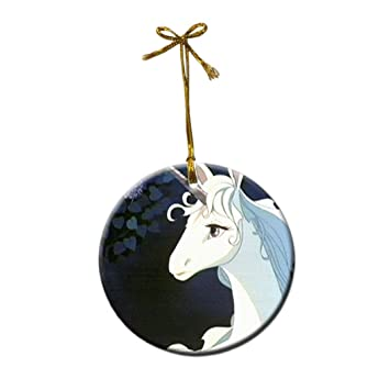 the last unicorn anime custom fashion porcelain gift christmas decorations hanging ornaments - Unicorn Christmas Decorations