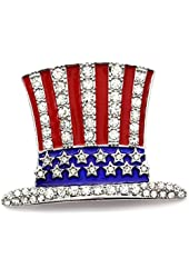 Hat Pin US Ballot American USA Flag Brooch 4th of July Veterans' Day Charm
