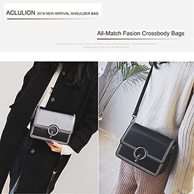 Women Leather Crossbody Bag,ACLULION Shoulder Bag Purses Messenger Bags for Traveling