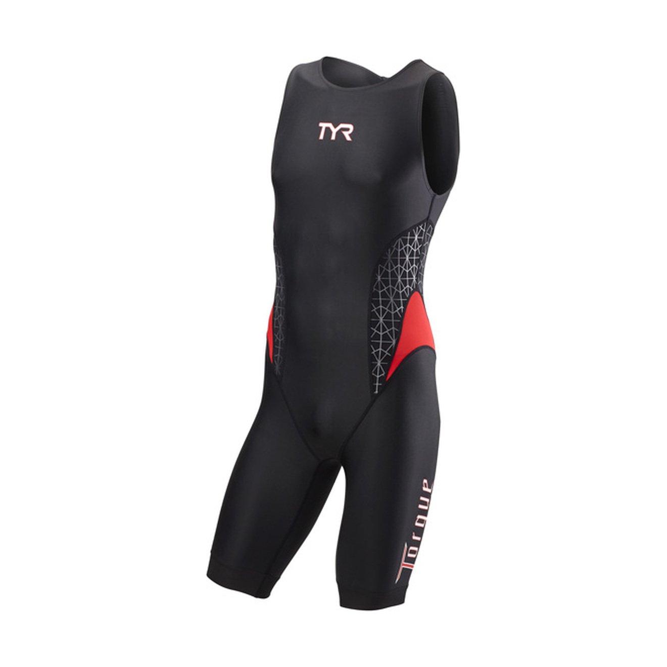 TYRトルクPro Men 's Swimskin :ブラック/レッドLG   B01N4UD6O8