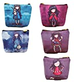 Coco*store Canvas Coin Bag(5 colors,packed 5 pcs)