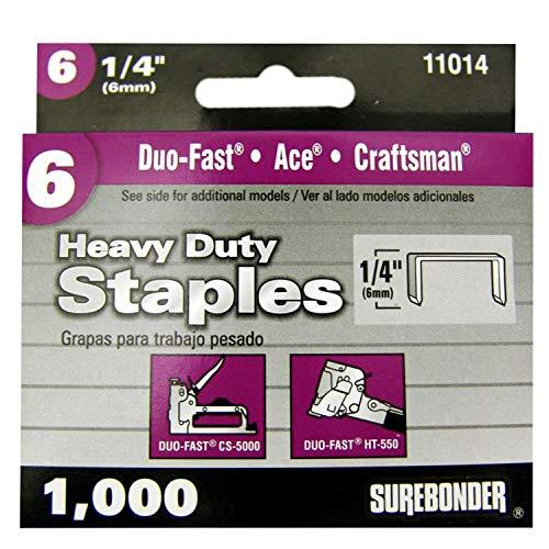 Surebonder 11014   Heavy Duty Duo-Fast Type, 1/4-Inch Leg Le