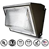 EverWatt LED 80W Wall Pack Outdoor Area Light Fixture, 5000K Natural White, 9850 Lumens, Replacement for 400W-500W Equivalent HPS/HID Wall Lights IP65 Waterproof, UL/DLC Listed, Optional Photocell