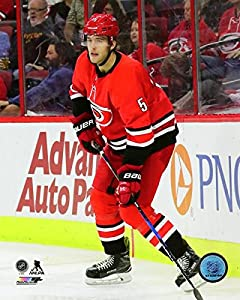 "Noah Hanifin Carolina Hurricanes 2017-2018 NHL Action Photo (8"" x 10"")"