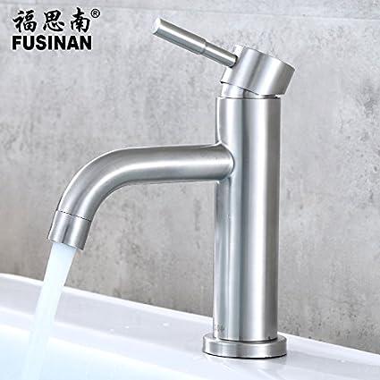 Hot Bathroom White SUS304 Basin Sink Mixer Faucet Single Lever Single Handle Tap