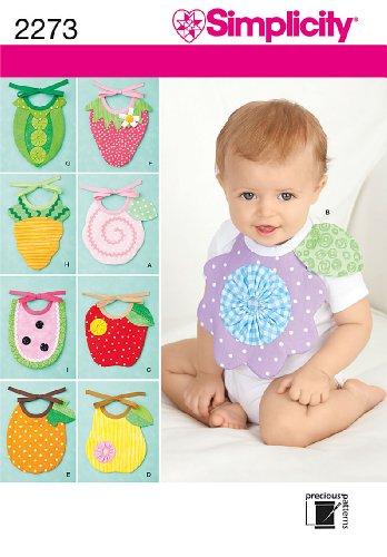 Simplicity Sewing Pattern 2273 Baby Bibs, One (Baby Bib Sewing Pattern)