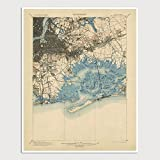 queens new york poster - Old Brooklyn and Queens Map Art Print 1900 New York City - USGS Topographic Map - Archival Reproduction
