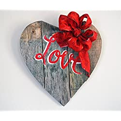 Reclaimed Wood Heart Sign, Wood Sign, Heart Sign,
