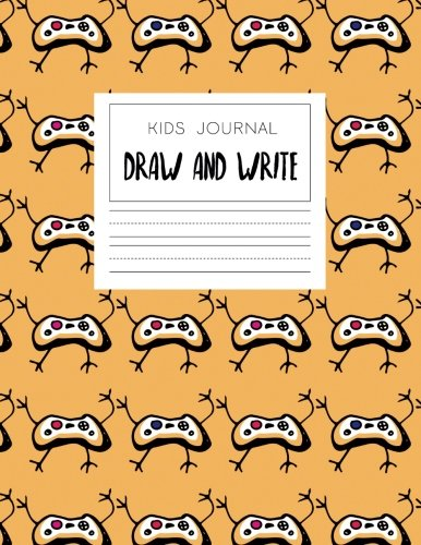 Kids Journal Draw And Write: Cool Notebook For Boys With Orange Game Controllers (Handwriting Notebook)