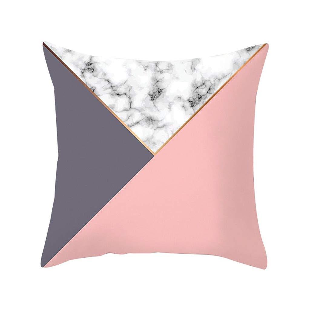 Pet1997 Multicolor Geometric Marble Texture Throw Pillow Case, Super Soft Pillowcase, Cushion Cover, Sofa Home Decor, Luxury Bedding,18 X18 Inch (C)
