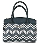 Betsey Johnson COMPARTMENT SATCHEL TRIPLE BLACK WHITE with BLUSH POUCH