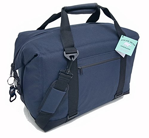 Polar Bear Coolers - Nylon Line - Quality Like No Other From the Brand You Can Trust - See Touch & FEEL the Polar Bear Difference - Patent Pending - 24 Pack Navy