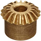 Boston Gear G464Y Miter Gear, 1:1 Ratio, 20 Degree Pressure Angle, 0.250'' Bore, 24 Pitch, 24 Teeth, Brass