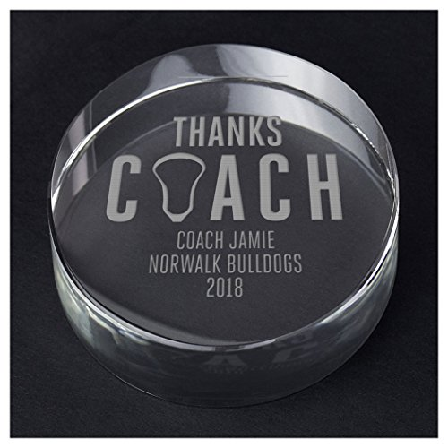 ChalkTalkSPORTS Guys Lacrosse Personalized Crystal Award Gift | Thanks Coach by ChalkTalkSPORTS