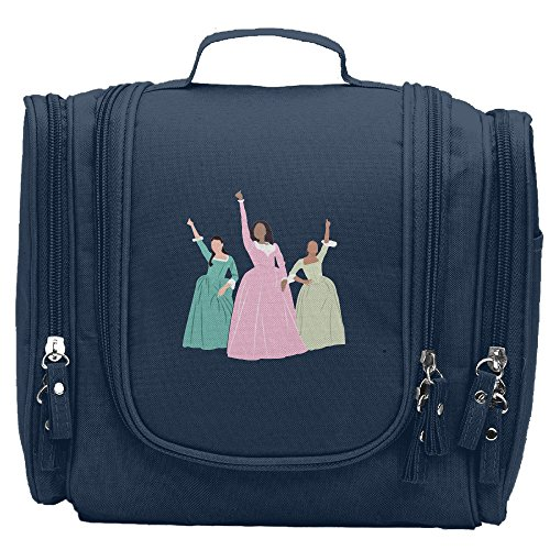Travel Toiletry Bags Schuyler Musical 3 Sisters Work Washable Bathroom Storage Hanging Cosmetic/Grooming Bag For Household Business Vacation, Multi Compartments, Waterproof Lining