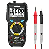 Homgrace Digital Multimeter, 6000 Counts Voltage Current Tester Meter Non-Contact Voltage Detection with LCD Backlight, Amp, Ohm, Temperature, Continuity Test, Live Line