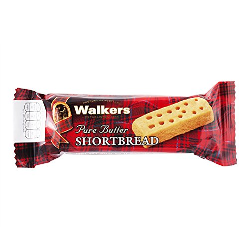 20g Net - Walkers, Pure Butter, Shortbread Cookies, net weight 20 g (Pack of 8 pieces) / 8eststore by KK