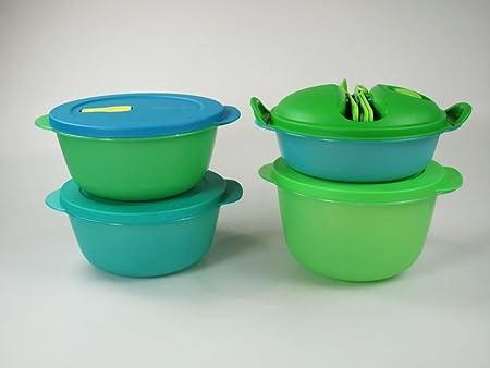 TUPPERWARE Microflash Redondos 1,5L+ 1L+2L verde+ ...
