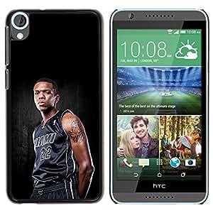 Miami 22 Baloncesto - Metal de aluminio y de plástico duro Caja del teléfono - Negro - HTC Desire 820