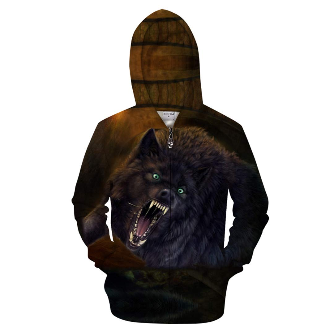Men 3D Hoody Anime Sweatshirt Print Pullover Zipper Tracksuit Male Streatwear Coat