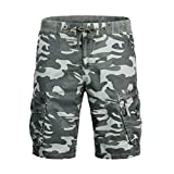 Benficial Fashion Men's Cotton Pocket Camouflage Outdoors Work Trouser Cargo Short Pants
