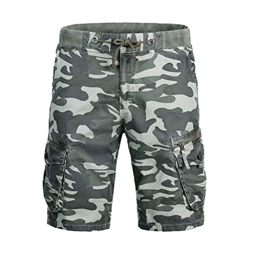 Fashion Men's Cotton Pocket Camouflage Outdoors Work Trouser Cargo Short Pants, MmNote ()