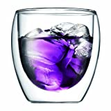 Bodum Pavina 8-1/2-Ounce Double-Wall Thermo Tumbler Glasses, Set of 2