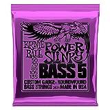 Ernie Ball 2821 Power Slinky 5-String Nickel Wound Bass Set (50-135)
