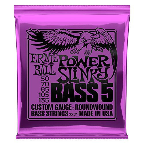 Gauge Electric Bass - Ernie Ball 5-String Power Slinky Nickel Wound Bass Set, .050 - .135