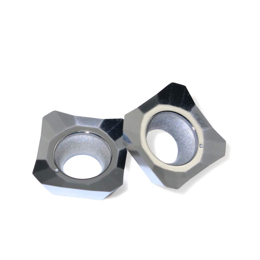Boeray 10pcs SEHT1204AFFN D01 Aluminum Cnc Insert Cutting Turning Tools Blade for AL +TIN Alloy
