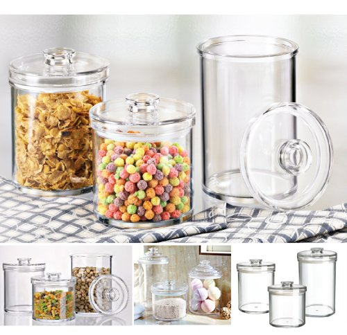 (SPA & Cosmetics storage system) Felliclassic round airtight canister. 6''x 6'' x 8''. (78oz/2.3L).Classic canister that decorate your space very well! Shatterproof, BPA Free.(U381963) by Felli-storage (Image #4)