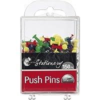 Multi Coloured Push Pins - Box of 150