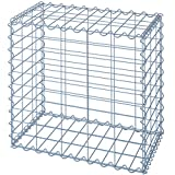 Jago Gabion Basket 4 mm Galvanized Iron Wire Welded Mesh Cage for Stones Bricks Wood Gravel - Choice of Size and Set
