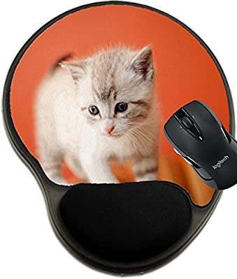 MSD Mousepad wrist protected Mouse Pads/Mat with wrist support design 20944639 Adorable and beautiful little white kitty cat