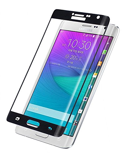 世界に死んだ評判道を作る【Trocent】Samsung Galaxy Note Edge ガラスフィルム N9150 / Docomo SC-01G / Au SCL24 指紋防止 防汚れ 超薄0.15MM 硬度9H 2.5D 3D Touch 強化耐衝撃 (Galaxy Note Edge, ブラック)