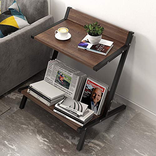 Hicy 3-Tier Side Table with Storage Shelf,Office Storage Cabinets,Accent Table (2-Tier)