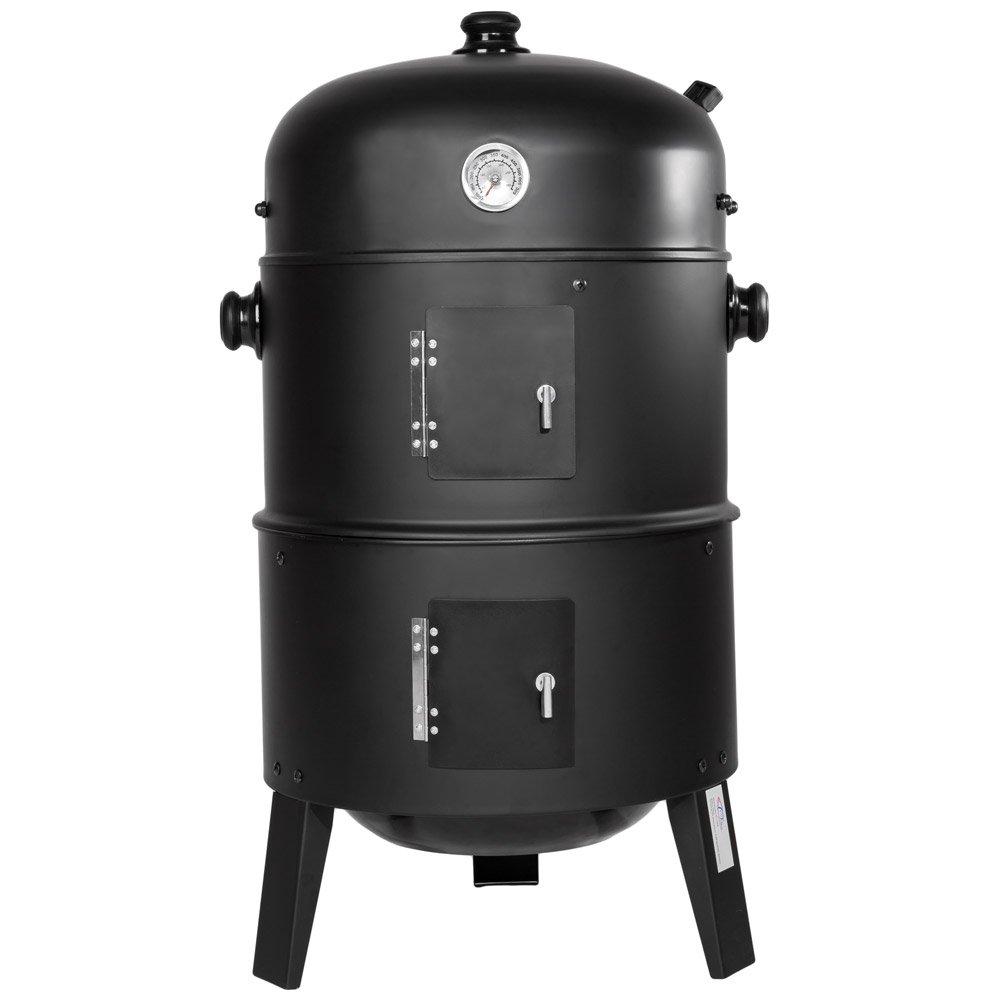 TecTake Barbacoa Barbecue Grill con Carbón Vegetal Parrilla Fumador - Varios Modelos - (3en1 BBQ Fumador/Parrilla | no. 400820)