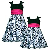 Size-2T RRE-44551F BLACK WHITE PINK ZEBRA ANIMAL PRINT MESH OVERLAY Special Occasion Wedding Flower Girl Party Dress,F744551 Rare Editions GIRLS