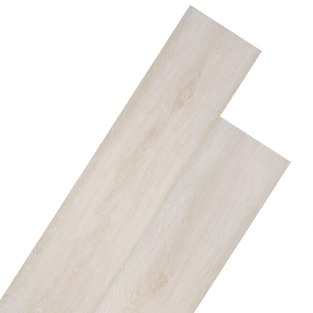 vidaXL 18x L/ámina Suelo 5,26 m/² 2mm PVC Gris Claro Baldosa Losa Tarima Flotante