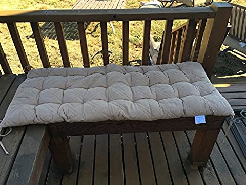 Ofit Quilted Micro Suede Bench Long Chair Cushion Pads (17x40