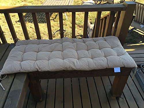 Ofit Quilted Micro Suede Chair Pads Bench Cover Ottoman Patio Long Chair Cushion Pads (17x40